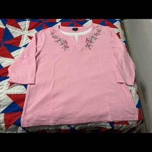 3/4 sleeve pullover tee shirt